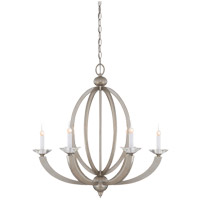 Forum 6 Light 27 inch Silver Sparkle Chandelier Ceiling Light