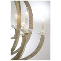 Savoy House 1-1551-6-307 Forum 6 Light 27 inch Silver Sparkle Chandelier Ceiling Light alternative photo thumbnail