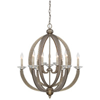 Forum 9 Light 27 inch Gold Dust Chandelier Ceiling Light