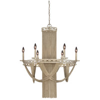 Savoy House Castello 6 Light Chandelier in Silver Sparkle 1-1630-10-307 photo thumbnail