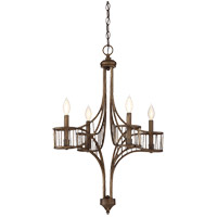 Savoy House 1-165-4-131 Licton 4 Light 22 inch Guilded Bronze Chandelier Ceiling Light