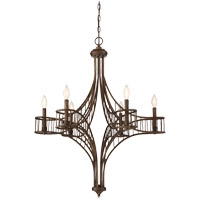 Licton 6 Light 33 inch Guilded Bronze Chandelier Ceiling Light