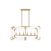Rotterdam 6 Light 37 inch Warm Brass Trestle Ceiling Light