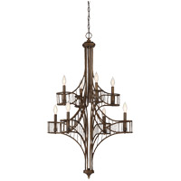 Savoy House Licton 8 Light Chandelier in Guilded Bronze 1-167-8-131