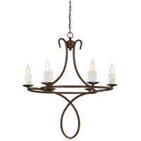 Lynch 6 Light 28 inch Guilded Bronze Chandelier Ceiling Light