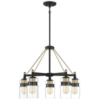 Savoy House 1-17001-5-77 Colfax 5 Light 25 inch Bronze with Brass Accents Chandelier Ceiling Light