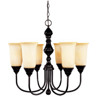 Sutton Place 6 Light 24 inch English Bronze Chandelier Ceiling Light