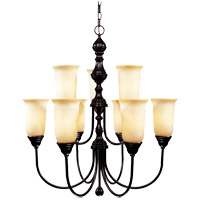 Sutton Place 9 Light 28 inch English Bronze Chandelier Ceiling Light