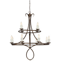 Lynch 12 Light 36 inch Guilded Bronze Chandelier Ceiling Light