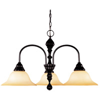 Savoy House Sutton Place 3 Light Chandelier in English Bronze 1-1714-3-13