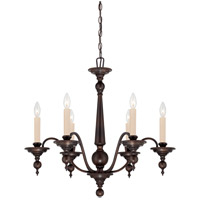 Sutton Place 6 Light 28 inch English Bronze Chandelier Ceiling Light