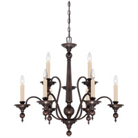 Sutton Place 9 Light 32 inch English Bronze Chandelier Ceiling Light