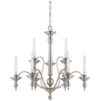 Savoy House Sutton Place 9 Light Chandelier in Satin Nickel 1-1727-9-SN