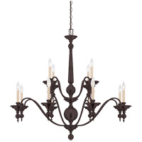Savoy House Sutton Place 12 Light Chandelier in English Bronze 1-1728-12-13
