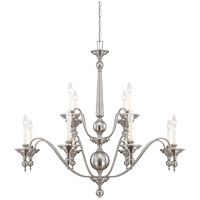 Sutton Place 12 Light 42 inch Satin Nickel Chandelier Ceiling Light