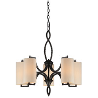 Savoy House Lincoln 5 Light Chandelier in Distress Bronze 1-1750-5-59