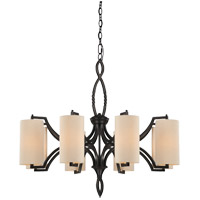 Savoy House Lincoln 8 Light Chandelier in Distress Bronze 1-1751-8-59