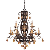 Savoy House Tracy Porter Tracy Porter Eldora 9 Light Chandelier in Como Black w/ Gold 1-1813-9-62