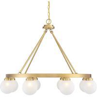 Savoy House 1-1841-8-322 Avery 8 Light 34 inch Warm Brass Chandelier Ceiling Light