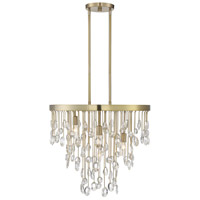 Savoy House 1-1846-4-127 Livorno 4 Light 21 inch Noble Brass Chandelier Ceiling Light