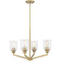 Savoy House 1-1970-4-322 Hampton 4 Light 25 inch Warm Brass Chandelier Ceiling Light