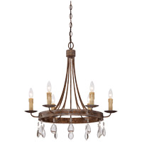 Carlisle 6 Light 25 inch Bronze Patina Chandelier Ceiling Light