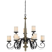 Hamlin 9 Light 32 inch Cottage Wood Chandelier Ceiling Light