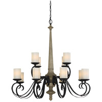 Hamlin 12 Light 36 inch Cottage Wood Chandelier Ceiling Light