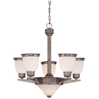 Savoy House Muscle Collection Thunder 5 Light Chandelier in Brushed Pewter 1-20038-5-187 photo thumbnail