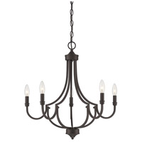 Savoy House 1-2005-5-13 Auburn 5 Light 24 inch English Bronze Chandelier Ceiling Light photo thumbnail