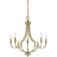 Savoy House 1-2005-5-322 Auburn 5 Light 24 inch Warm Brass Chandelier Ceiling Light