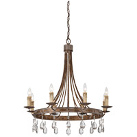 Carlisle 8 Light 30 inch Bronze Patina Chandelier Ceiling Light