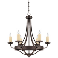 Savoy House Elba 6 Light Chandelier in Oiled Copper 1-2010-6-05 photo thumbnail