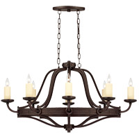 Elba 8 Light 28 inch Oiled Copper Chandelier Ceiling Light, Oval