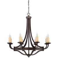 Savoy House Elba 8 Light Chandelier in Oiled Copper 1-2012-8-05