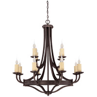 Elba 12 Light 38 inch Oiled Copper Chandelier Ceiling Light