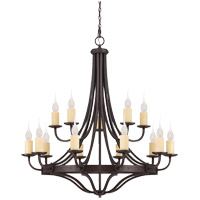 Elba 15 Light 49 inch Oiled Copper Chandelier Ceiling Light