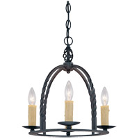 Savoy House 1-2014-4-25 Signature 4 Light 14 inch Slate Mini Chandelier Ceiling Light
