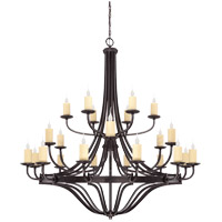 Elba 24 Light 60 inch Oiled Copper Chandelier Ceiling Light