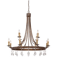 Carlisle 12 Light 39 inch Bronze Patina Chandelier Ceiling Light