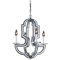 Savoy House Boutique 4 Light Chandelier in Mercury Black w/ Mirror Insets 1-2030-4-250