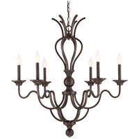 Savoy House Montpelier 6 Light Chandelier in Statuary Bronze 1-2040-6-48