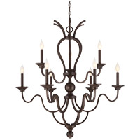 Montpelier 9 Light 35 inch Statuary Bronze Chandelier Ceiling Light