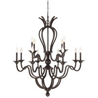 Montpelier 12 Light 41 inch Statuary Bronze Chandelier Ceiling Light