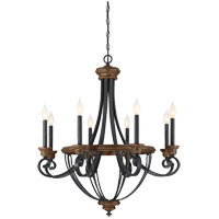 Wickham 8 Light 29 inch Whiskey Wood Chandelier Ceiling Light