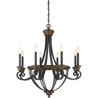 Savoy House 1-2051-8-68 Wickham 8 Light 29 inch Whiskey Wood Chandelier Ceiling Light