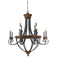Wickham 12 Light 38 inch Whiskey Wood Chandelier Ceiling Light