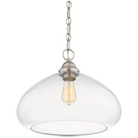 Savoy House 1-2070-1-SN Shane 1 Light 16 inch Satin Nickel Pendant Ceiling Light