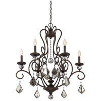 Stratton 6 Light 28 inch Statuary Bronze Chandelier Ceiling Light
