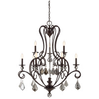 Stratton 9 Light 34 inch Statuary Bronze Chandelier Ceiling Light
